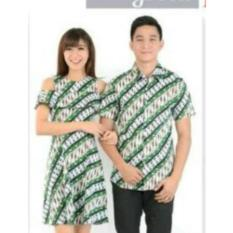 couplelover-KEMEJA COUPLE DRESS BATIK MODE (PRIA+WANITA) FASHION COUPLE BAJU KEMBARAN