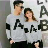 Cuci Gudang Couplelover Sweater Pasangan A Grey Pria Wanita Fashion Couple Sweater Kembaran Baju Couple