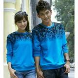Spesifikasi Couplelover Sweater Pasangan Abjad Biru Yang Bagus Dan Murah
