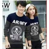 Beli Couplelover Sweater Pasangan Ar My Navy Abu Pria Wanita Baju Pasangan Sweater Kapel Baju Kembaran Fashion Couple Baru