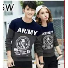 Harga Couplelover Sweater Pasangan Ar My Navy Abu Pria Wanita Baju Pasangan Sweater Kapel Baju Kembaran Fashion Couple Asli Couplelover