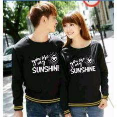couplelover-sweater pasangan SUNSHINE BLACK (PRIA+WANITA)  BAJU PASANGAN  SWEATER KAPEL  BAJU KEMBARAN  FASHION COUPLE