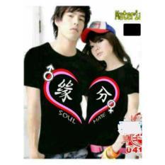 COUPLELOVER- T-SHIRT COUPLE SM LOVE BLACK PD  BAJU FASHION  KAOS PASANGAN (PRIA+WANITA)