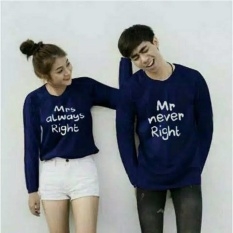 Couplelover- T-SHIRTS COUPLE MR MRS NAVY LP  KAOS KAPEL  BAJU KEMBARAN  FASHION ATASAN  BAJU PASANGAN  KAOS PASANGAN (PRIA+WANITA)