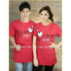 COUPLELOVER- T-SHIRTS COUPLE PD I'M IN LOVE RED L/XL (PRIA-XL WANITA -L)  UKURAN BESAR  KAOS PASANGAN  BAJU KEMBARAN  FASHION JUMBO  KAOS COUPLE