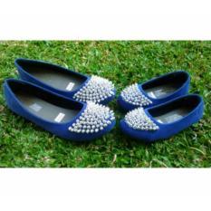 Sepatu payet biru tersedia size anak sampai dewasa