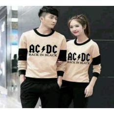 Diskon Couplestore Cs Sweater Couple Ac Dc Mocha Cream Couple Store Cs Dki Jakarta