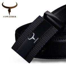 Jual Cowather Gaun Ratchet Kulit Pria With Gesper Otomatis Kulit Pria Ratchet Dress Belt Dengan Gesper Otomatis Baru