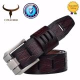 Beli Cowather 100 Sapi Genuine Leather Men S Belts Alloy Pin Buckle Double Strap Pria Belt Strap Lebar 1 1 2 Yang Bagus