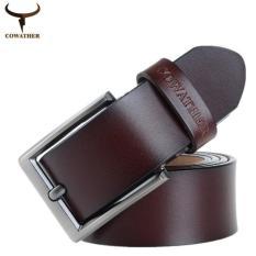 Spesifikasi Cowather Pria 100 Kulit Asli Ratchet Dress Belt Dengan Gesper Otomatis Yang Bagus Dan Murah