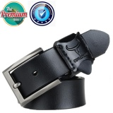 Cowather Sabuk Kulit Pria Tali Roda Belt With Pin Buckle Pria Kulit Ratchet Dress Strap Belt Dengan Pin Buckle 100 Sapi Asli Dress Reversible Male Belt 100 130 Cm Hitam Intl Cowather Murah Di Tiongkok