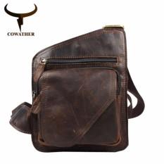 Promo Cowather Pria Tas Klasik Kulit Sapi Top Messenger Casing Bahu Man Kantor Tas Fashion Casual Cowather