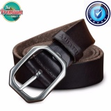 Jual Cowather Atas Sapi Kulit Asli Pin Buckle Sabuk Gaun Ratchet Pria Asli With Pin Buckle Sabuk Kulit Import