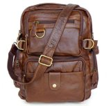 Harga Cowboy Vintage Kulit Asli Travel Bag Backpack Bookbag Shoulder Bag Brown New