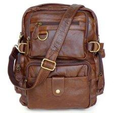 Toko Cowboy Vintage Kulit Asli Travel Bag Backpack Bookbag Shoulder Bag Brown Yang Bisa Kredit