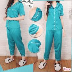 CP Baju Tidur Piyama Pajamas SATIN Sleepwear Celana Panjang Satin Silky Velvet