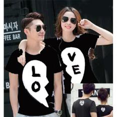 Jual Cp Love Black 10392 Kaos Couple Baju Pasangan Soulmate Branded Murah