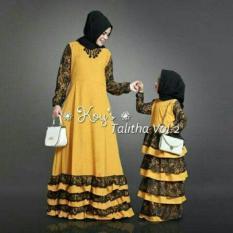 Cp Mk Thalita Kubus Pakaian Sepasang Gamis Maxi Dres Ibu Anak