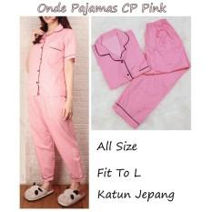 CP Onde Polkadot Piyama  Pajamas Celana Panjang Katun Jepang Baju Tidur Pajamas Wanita Dewasa