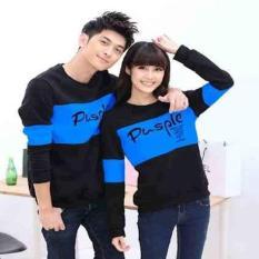 Cp Pusple Turquise LT] Sweater Couple Babyterry Turquoise