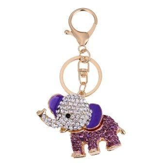 Pencarian Termurah Kreatif Lucu Gajah Gantungan Kunci Logam Paduan Gantungan Kunci Berlian Imitasi untuk Mobil (Ungu)-Intl harga penawaran - Hanya Rp32.880