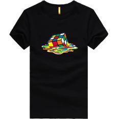 Review Kreatif Melting Rubiks Rubix Cube Teori Big Bang Putih Mens Tee T Shirt Hitam Di Tiongkok