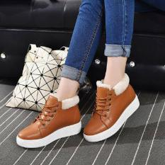 Cremline - Sepatu Boots Casual Wanita Korea - Coklat