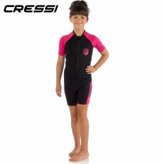 Jual Cressi Little Shark 2Mm Neoprene Wetsuit For Children Age 8 To 12 Years Old Snorkeling Dive Swimming Suit Boys Girls Kids Baby Core Warmer Wetsuit Intl Cressi Branded