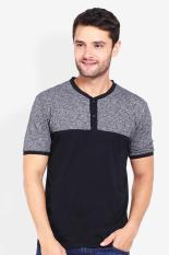 Cressida Pakaian Atasan Kasual Kaos T-Shirt Pria Cressida Tees Henley Cut & Sewn Grey Diskon discou