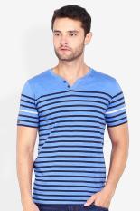 Cressida Pakaian Atasan Kasual Kaos T-Shirt Pria Cressida Tees Stripe Blue Diskon discount murah ba
