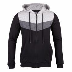 Cressida V tone hoodie - Hitam