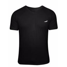 Crocodile International V-Neck T-Shirt Hitam Limited Edition