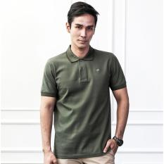 COLE Army Green - Baju pria Crocodile Men Polo Shirt - Bahan Katun 100% Cotton