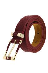 Spesifikasi Pola Sabuk Pinggang Kulit Buaya Gandum Merah Anggur Murah Berkualitas
