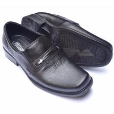 Crocodile Sepatu Formal Sepatu Kerja - Sepatu Pantofel Pria - Kulit Asli Pria - A2 Hitam