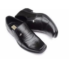 Crocodile Sepatu Kulit Sepatu Kerja Pria Sepatu Formal Branded - A7 Hitam