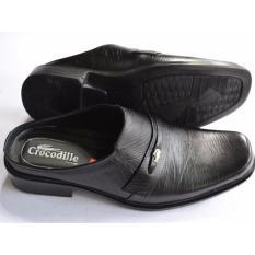 Crocodile Sepatu Sandal Selop - Sandal Sepatu Pria - Sandal Pria -Kulit Sapi Asli - A2 Hitam