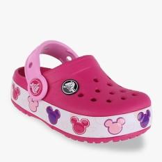 Crocs Crocband Mickey Fun Lab Light Clogs Girl's Sandals - Pink