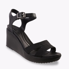 Crocs Leigh II Ankle Strap Wedges - Hitam
