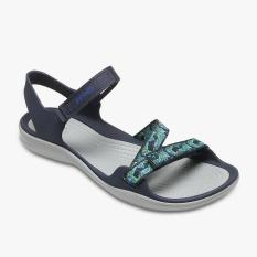 Promo Crocs Swiftwater Webbing Sandal Women S Sandals Putih Navy Crocs