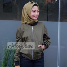 Toko Crop Bomber Nie Army Bomber Jacket Women Di Indonesia