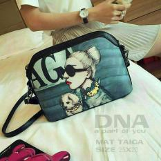 Cross Body & Shoulders Bags / Sling Bag / Tas Selempang Korean Style Lady Gaga (Black)