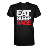 Beli Cross In Mind T Shirt Eat Sleep Race Hitam Murah
