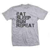Spesifikasi Cross In Mind T Shirt Eat Sleep Run Repeat Abu Misty