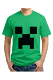 Jual Cross In Mind T Shirt Minecraft Face Hijau Grosir