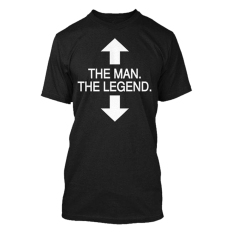 Harga Cross In Mind T Shirt The Man The Legend Hitam Fullset Murah