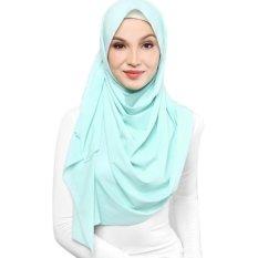 Crosse Mara Hijab - Jilbab Pashmina - Satin Premium – Seafoam - Hijau Laut