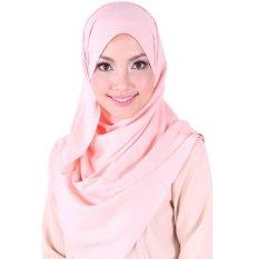 Crosse Mara Hijab - Jilbab Persegi - Satin Premium - Rose Pink - Pink Muda