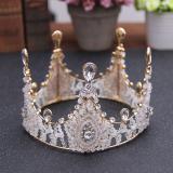 Jual Beli Mahkota Aksesoris Rambut Pengantin Wanita Hias Kristal Putih Lapis Emas Baru Tiongkok