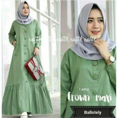 Harga Crown Maxi Baju Muslim Dress Gamis Asli